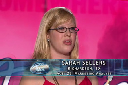 Sarah Sellers on american idol