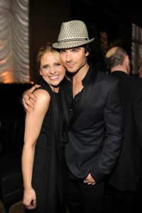 SMG and Ian celebrate CW