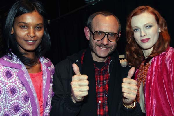 Terry Richardson rocks his aviators at Mercedes-Benz Fashion Week