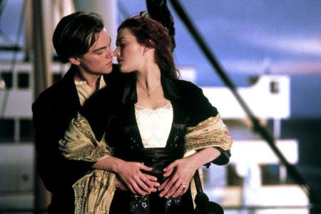 Leonardo DiCaprio and Kate Winslet in Titanic, coming now in 3D