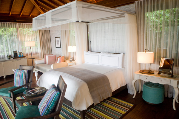 Travel inspired bedroom