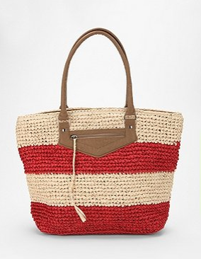 Kimchi Blue Striped Straw Tote from Urban Outfitters
