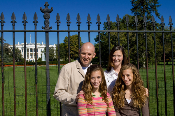 Family in Washington DC