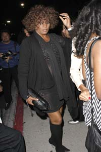 Whitney Houston in outpatient rehab