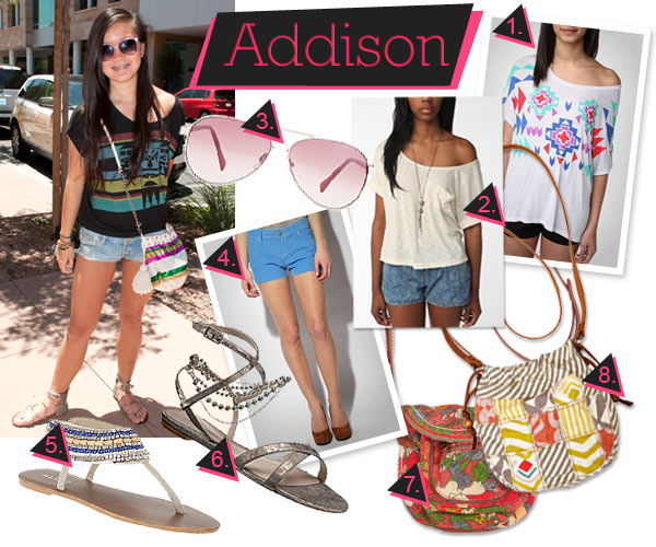 gladiator sandals and decorative patterns make a cute summer ensemble