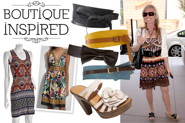 Boutique style with graphic print dresses and waist belts