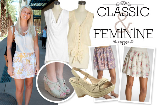 classic and feminine fashion sense