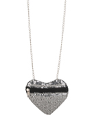 Forever21 sequined heart necklace 