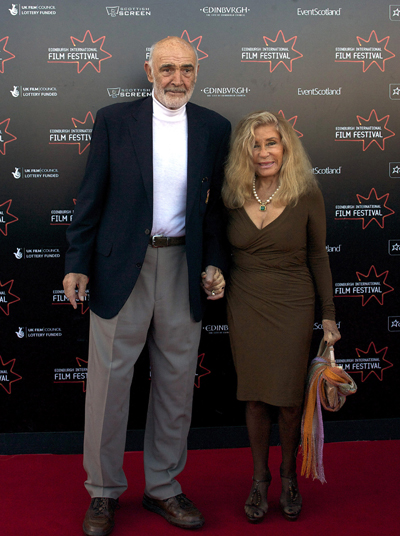 Sean Connery and wife