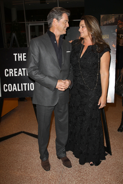 Pierce and Keely Brosnan