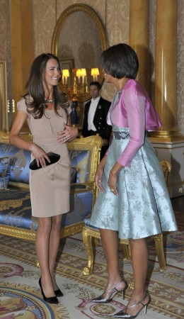 Kate Middleton and Michelle Obama meet