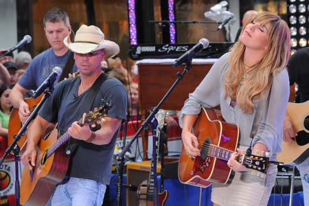 Kenny Chesney performs on the Today Show with Grace Potter