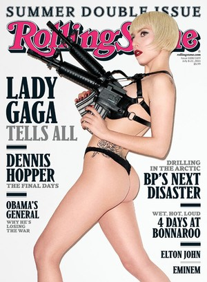 Lady Gaga's girly Rolling Stone cover