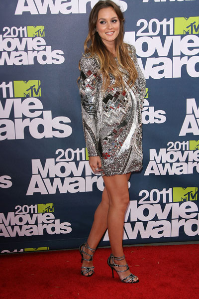 Leighton Meester celebrity style: 2011 MTV Movie Awards