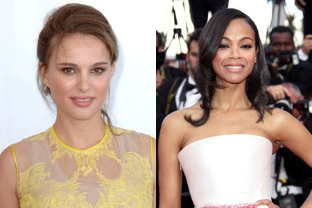 Natalie Portman and Zoe Saldana lend a hand!