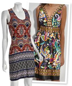 graphic print dresses
