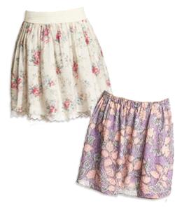 floral print feminine style skirts