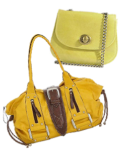 bright yellow purses