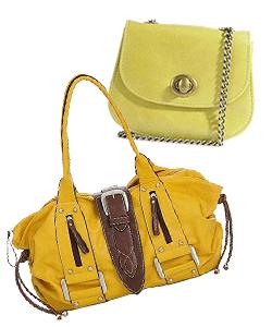 bright yellow purses