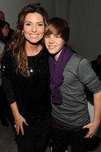 Shania Twain and Justin Bieber
