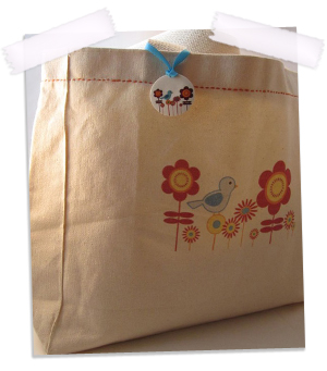 Bluebird Canvas Tote