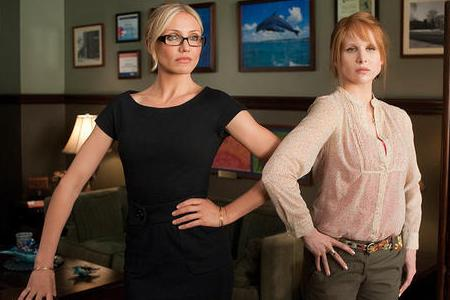 Cameron Diaz and Lucy Punch in Bad Teacher