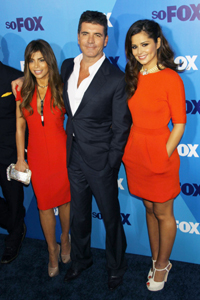 Cheryl Cole, Paula Abdul and Simon Cowell X Factor