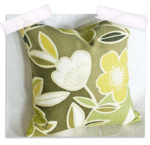 Mod retro flower power throw pillow