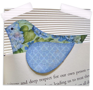 Bluebird in the Hydrangea Page percher