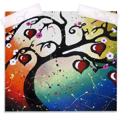 Red Hearts Tree of Life