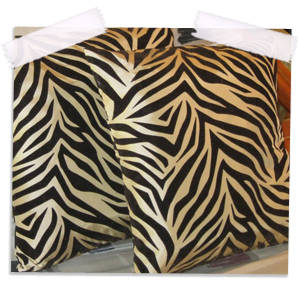Room Ornament Throw Pillows Zebra