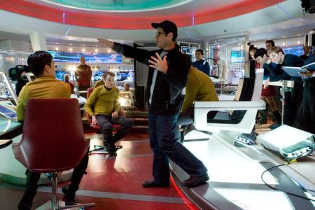 J.J. Abrams on the set of Star Trek