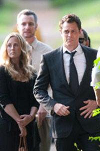 Johnny Knoxville at Ryan Dunn funeral