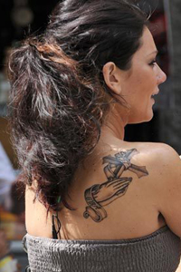 JWoww shoulder tattoo
