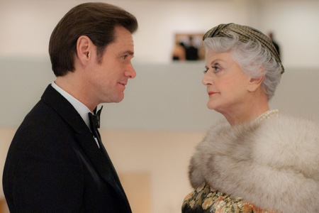 Angela Lansbury and Jim Carrey in Mr Popper's Penguins