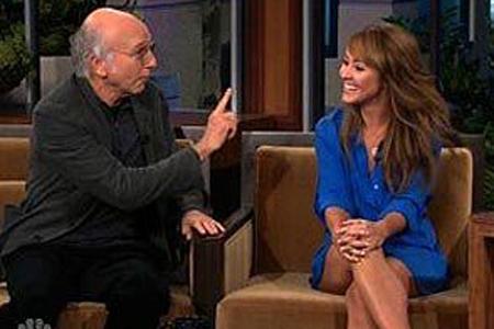 Larry David and Ashley Hebert