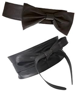 black waist belts with black bows