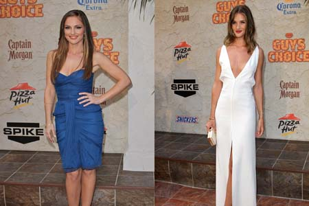 MInka Kelly and Rosie Huntington-Whiteley at the 2011 Spike Guys Choice Awards