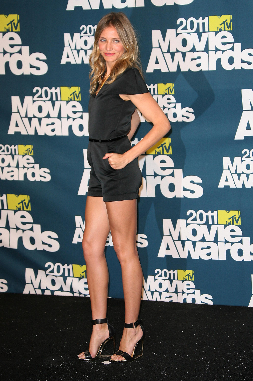 Cameron Diaz at MTV Movie Awards: Phillip Lim rompe