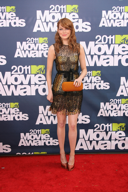 Emma Stone celebrity style: 2011 MTV Movie Awards