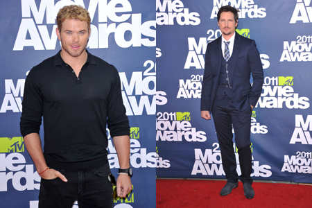 Kellan Lutz and Peter Facinelli at MTV Movie awards