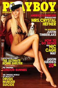 Playboy features Crystal Harris as Mrs. Hugh Hefner on the July cover