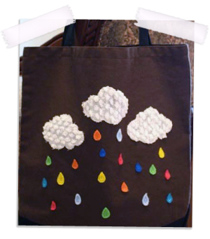 Rainy Rainbow tote bag