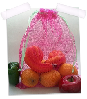 Reusable produce bags in Watermelon