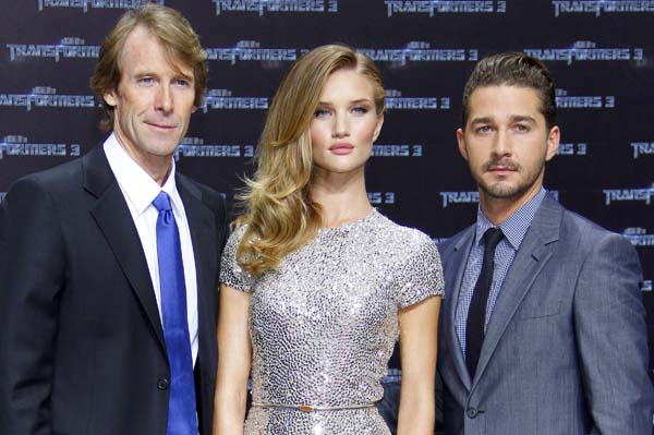 Michael Bay, Rosie Huntington-Whiteley, Shia LaBeouf