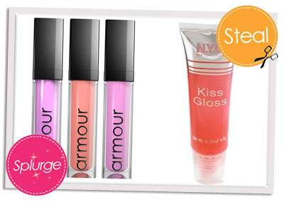 Splurge vs Steal glosses