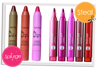 Splurge vs Steal lip stains