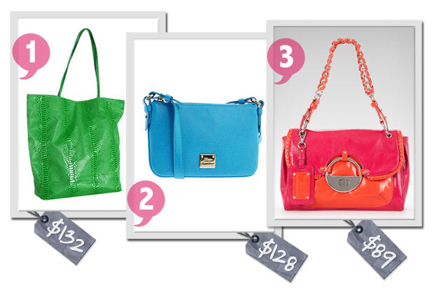 bright bags for summertime