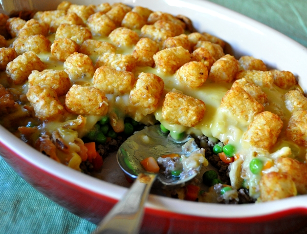 Tater-tots become an entree