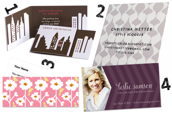 Nontraditional business cards